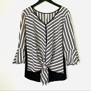 PerSeption Concept • Chevron Bell Sleeve Blouse